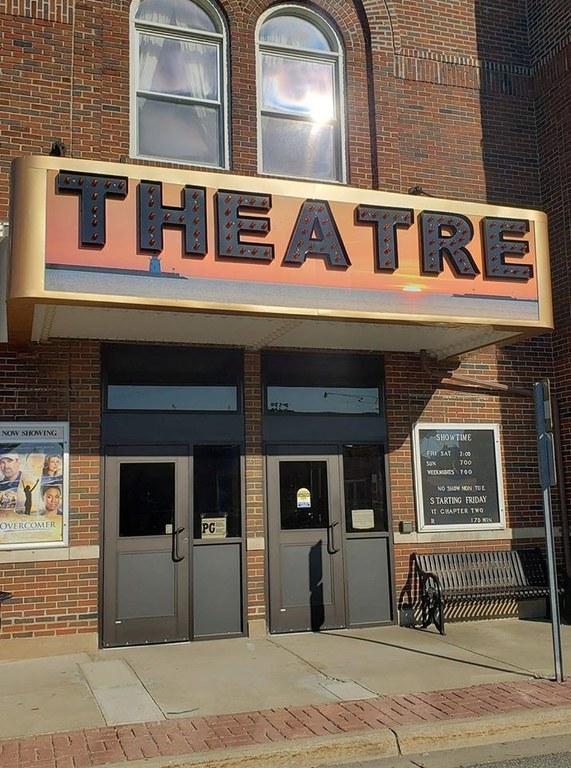 Theatre front doors